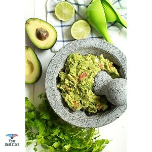 Mexican Molcajete Stone Grinding Bowl Granite Mortar And Pestle Pesto Large 6
