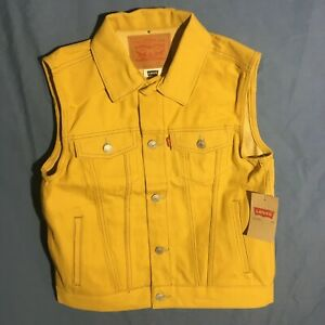 Levi#x27;s Youth Vest Cotton Yellow Color Brand New