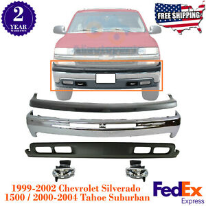 Front Bumper Kit w Fog Lights For 99-2004 Chevy Silverado 1500  Tahoe Subu