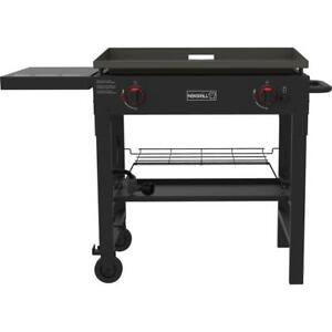 Nexgrill Tailgating Grill 2-Burner Pre-Seasoned Griddle Top Black