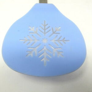 Blue Snowflake Holiday Spatula Stainless Steel Slotted Silicone 12