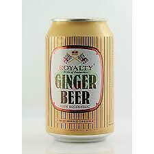ROYALTY GINGER BEER CANS NON ACOHOIC 2 Unit s Each Unit Is 6 X 330ML