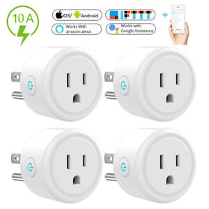 4 x Wifi Smart Plug Remote Control Socket Outlet Switch for Alexa Google Home US