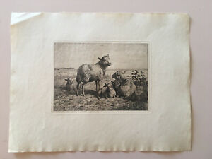 Old Original Etching. Signed 1855. Artist Unknown $100.00