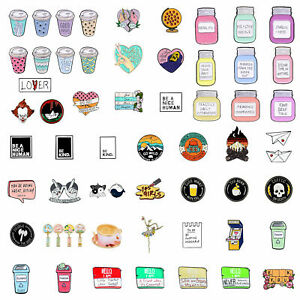 Creative Square Letter Board Brooches Badges Backpack Jacket Enamel Pins Gifts $4.96