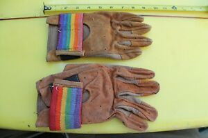 RAINBOW CALIFORNIA Skateboarding 1977 Leather Size L GLOVES Two Right Hands $65.00