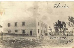 1949 Christian Youth Camping Camp Aurora LAKE WALES FL Real Photo Postcard