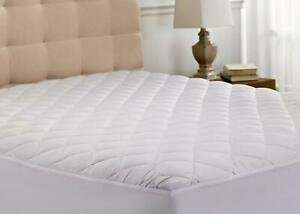 Quilted Mattress Cover Protector Cal King Size Bedding Extra Deep Fitted Sheet