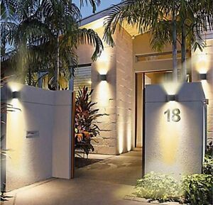 Modern LED Wall Sconce 12W Dimmable Waterproof Up Down Mounted Lamp NEW
