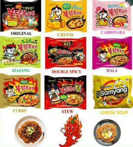 Samyang Hot Chicken Flavor Korean Stir-fried Noodle Spicy Instant Ramen noodles