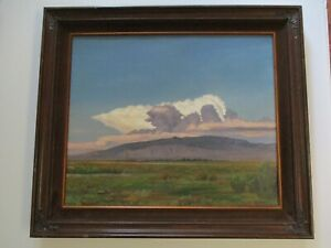 VINTAGE BUTLER OIL SIGNED PAINTING AMERICAN LANDSCAPE ATMOSPHERIC PLEIN AIR $670.00