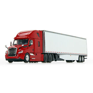 2020 First Gear DCP 1:64 RED Freightliner 2018 Cascadia w 53#x27; Dry Good Trailer