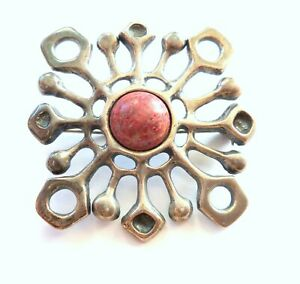 NORWEGIAN NORWAY UNI DAVID ANDERSEN 925S THULITE UNN TANGERUD PIN BROOCH