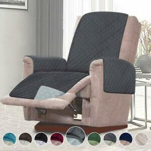 Reversible Sofa Cover Chair Couch Slipcover Pet Dog Kids Mat Furniture Protector