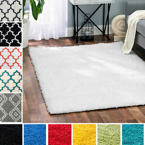 Designer Fluffy Shag Rug Thick Modern Solid Geometric Rugs Runners Mats $64.99