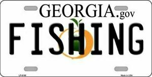 Fishing Georgia State Background Novelty License Plate