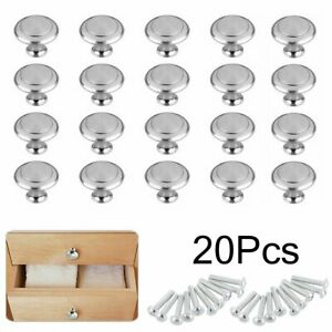 20Pcs Cabinet Knobs Stainless Steel Bedroom Kitchen Drawer Cupboard Handle Pulls $8.53