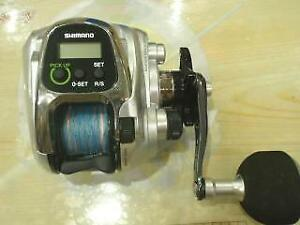 Shimano 13 Force Master 400 Electric Reel wBox Cable Bag From Japan Excellent