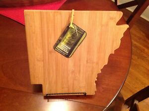 Totally Bamboo ARKANSAS State Shaped Cutting & Serving Boards NEW