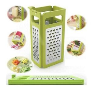 Fold-flat Grater Multi-functional for vegetable, fruit&cheese. 4 side