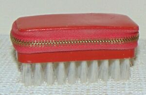 Vintage Sewing Kit Hand Brush Bag Case With Old Sewing Accessories amp; Scissors $7.99