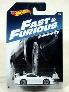 Hot Wheels 2017 Fast & the Furious Series 1:64 '94 TOYOTA SUPRA WHITE #7 8