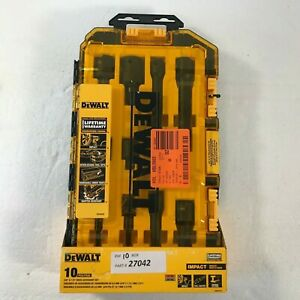 DeWalt 3/8 in. and 1/2 in. Drive Impact Accessory Set (10-Piece)