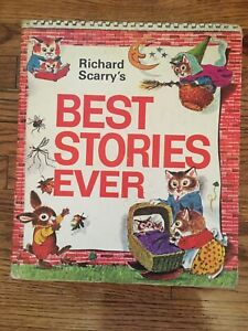 Richard Scarry's Best Stories Ever Hardback Book Vintage 1971