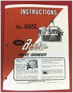 Sioux Model 685L Automatic Valve Grinder Instruction Manual  $18.95