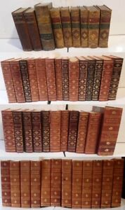One Dozen Antique and Vintage Classic Literature and Historical Leather Editions $98.95