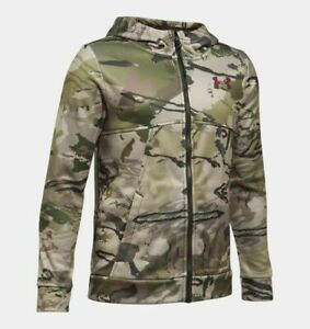 Under Armour Hoodie, Boy's XL, Full Zip Barren Camo Hoody, Fleece, New With Tags $31.99