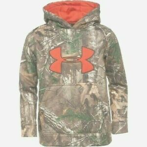 Under Armour Hoodie, Boy's Large, Fleece Camo Big Logo Hoody, New With Tags $34.99