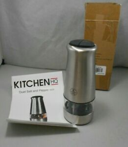 Kitchen HQ Electic Dual Salt and Pepper Mill Grinder Set New Free Shipping