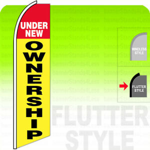 UNDER NEW OWNERSHIP Swooper Flag Feather Banner Sign 11.5 Tall FLUTTER Style yb $15.95