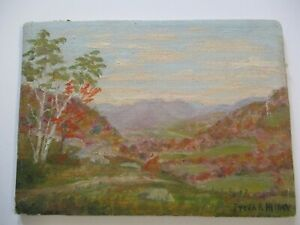 SMALL GEM OIL PAINTING FREDERICK MINER ANTIQUE EARLY OLD CALIFORNIA LANDSCAPE