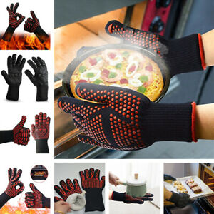 BBQ Grilling Cooking Gloves Extreme Heat Resistant Kitchen Baking Oven Welding