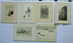 SIX WORLD WAR I LITHOGRAPHS-France-1916-German Expressionist Style