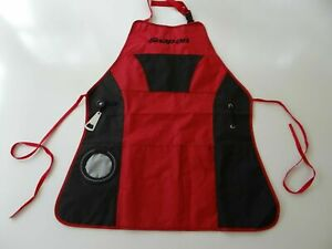 NEW Snap On Tools BBQ Grilling Apron w/Bottle Opener SSX18P106 Red/Black