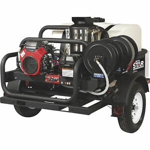 NorthStar Trailer Hot Water Commercial Pressure Washer 4K PSI 200G Tank CA Only