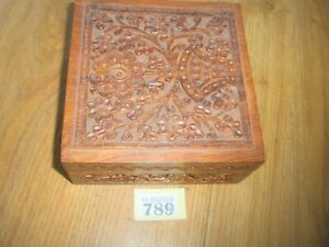 CARVED WOODEN BOX GBP 8.54
