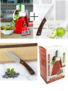 Slicer Vegetable Nutri Drum Grater with 3 Stainless Steel Blades Cheese Grater
