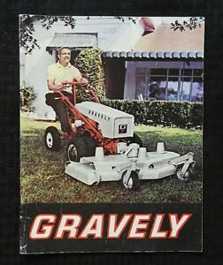 1964 GRAVELY SUPER CUSTOM RIDING ROTARY MOWER LAWN TRACTOR BROCHURE ALL PRICES  $29.95