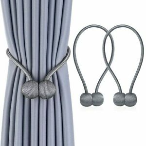 2/4/8pcs Home Curtain Tie Backs Magnetic Ball Buckle Holder Tieback Clips Window