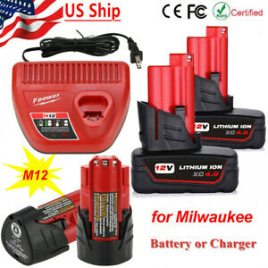 Charger or battery for Milwaukee M12 12Volt Extended Capacity Battery 48 11 2460