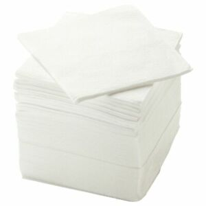 White Paper Napkins Serviette 11 ¾ x 11 ¾ 150/Pack (within 24hr shipping)