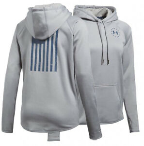 Under Armour Women's Gray UA Freedom Storm Fleece Rival Pullover Hoodie $45.00