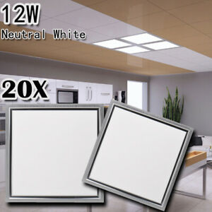 20X 12W LED Recessed Ceiling Panel Down Light Neutral white Bulb Ultra-thin Lamp