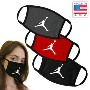 Basketball Air Jumpman Washable Reusable Dual Layer Face Mask MADE IN USA