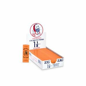 Zig Zag® 1 1 4 French Orange Rolling Papers 24 Booklet Carton $36.26