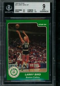 1983 84 Star #26 Larry Bird SP BGS 9 w 2 9.5's